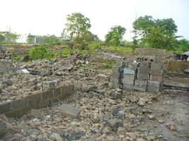 Escombros demostrativo de la demolición de las viviendas