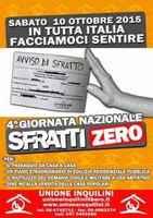 """10 ottobre 2015 Quarta Giornata Nazionale """"Sfratti Zero"""" in tutta Italia"""