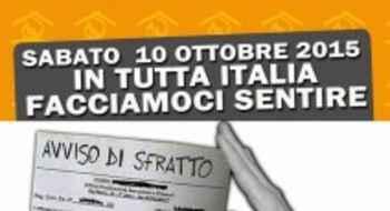 Italia, Sabato 10 ottobre 2015: IV Giornata Nazionale Sfratti Zero