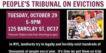 Join the People's Tribunal on Evictions New York! - October 29, 2019