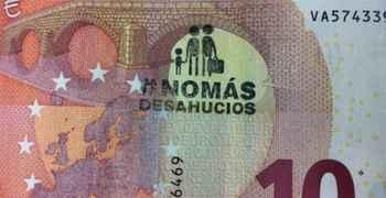 Spagna: La PAH contrassegna le banconote per sensibilizzare contro gli sfratti