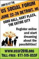 USA, Poverty Working Group Announcements USSF, Detroit, june 2010